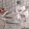 Women Lace up Shoes White