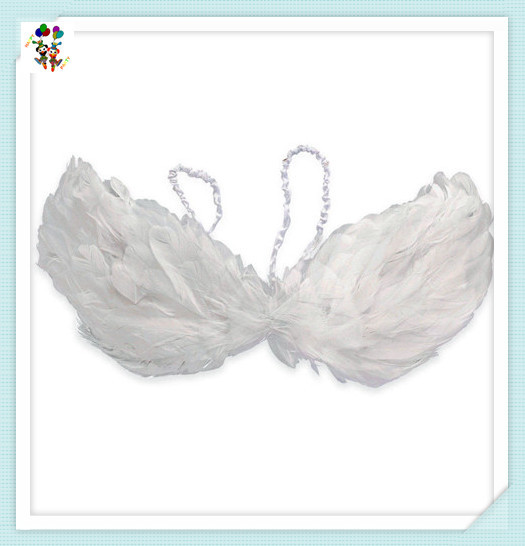 Adult Party Fancy Dress White Small Feather Angel Wings HPC-1798