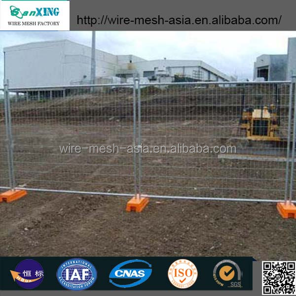 construction sites colorbond solid steel temporary event hoarding fence/mobile fence/portable temporary fence