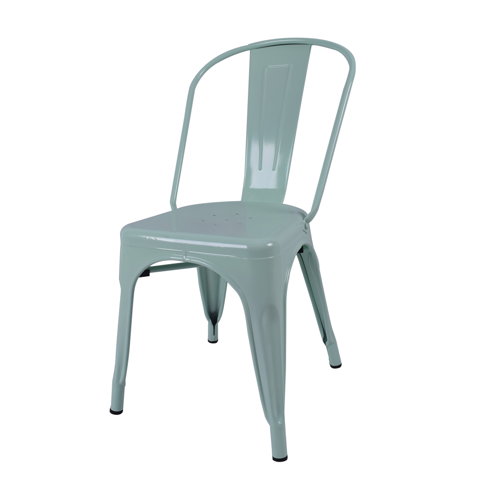 Restaurant Stackable Metal Chair / High Back Customized Dining Room Chair