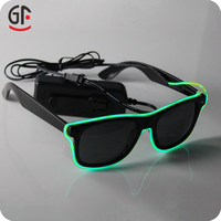 Valentine's Day Gift Ideas 2015 New Products Half Frame EL Wire New Party Sunglasses