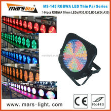 Cheap 144pcs 10mm RGBWA led thin par/ led flat par light/ mini par cans
