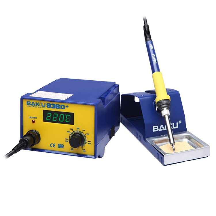 BAKU High Performance 60w BAKU Latest Design Lead Free BK-936D+ BGA Rework Station Digital Resistance Soldering Station 936b