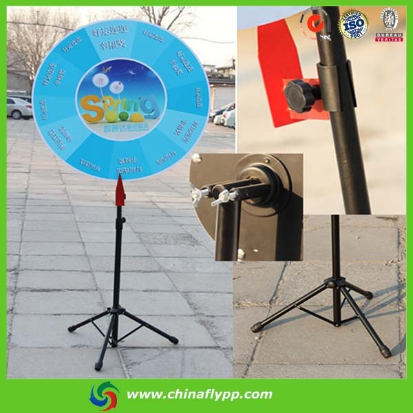 China factory Colorful fortune trade show tabletop spinning prize wheel