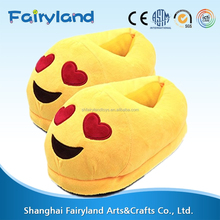 Cute Plush Emoji slipper boots, Cartoon Warm Cozy Soft Winter Shoes