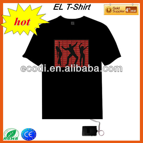 DJ Music Activated flashing T-Shirt led Graphic Equalizer