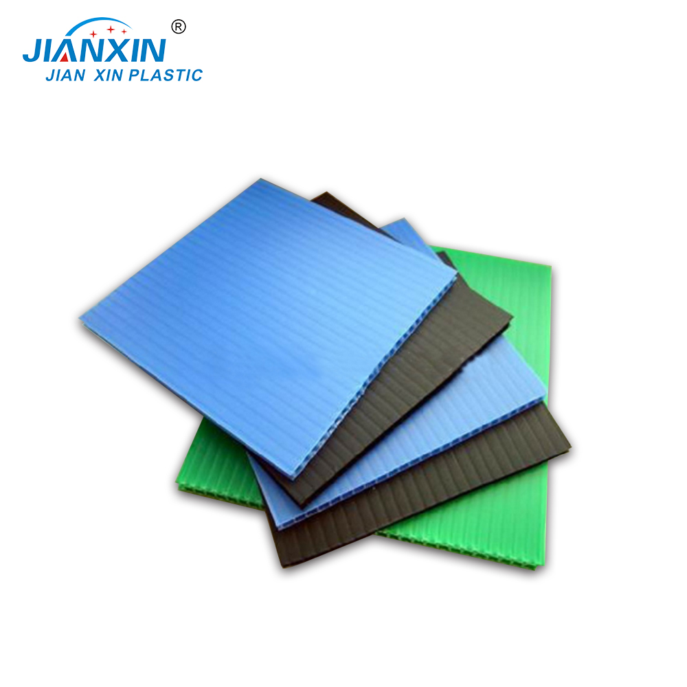 Green Plastic Custom Color PP Hollow Board For Decoration