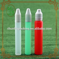 10ml 15ml 30ml pen shape plastic e liquid,e cig pe dropper bottle,plastic unicorn bottle for smoking oil