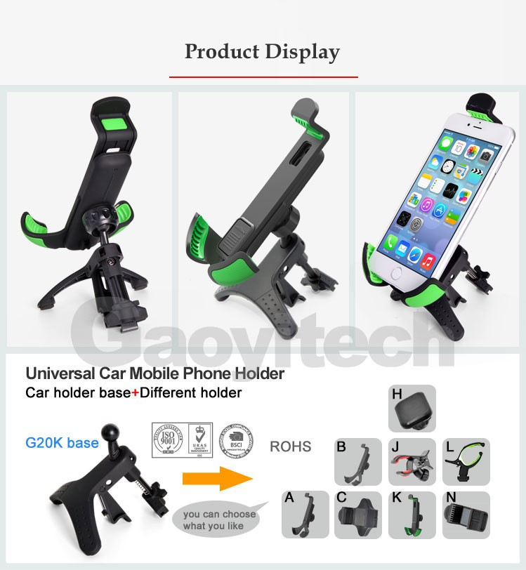 Universal car smartphone holder car air vent holder car accessories