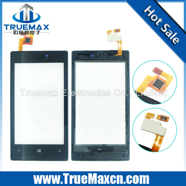Wholesale Repair Parts Cell Phone Touch Screen for Nokia Lumia 520 Digitizer Touch Screen with Frame