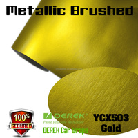 Metallic Brushed Vinyl Car Wrap Stickers for Car Body Color Changing 1.52*20m