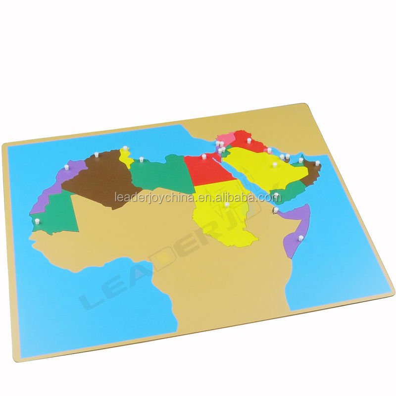 Montessori wooden puzzle map of middle east