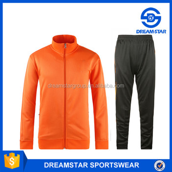 2016 Customize High Quality Men Football Jacket For Orange