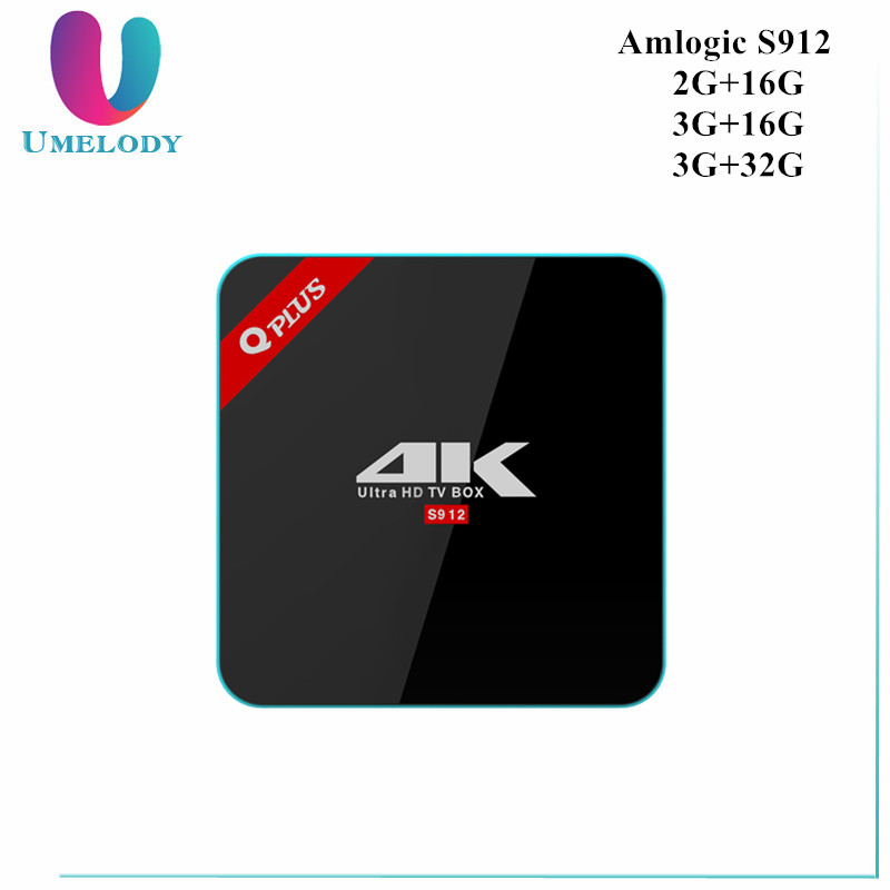 3G/32G Q Plus Amlogic S912 Android 6.0 TV BOX Octa Core Dual WiFi XBMC Q-PLUS Smart Set Top Box Media Player better than H96 pro