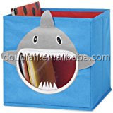 Collapsible hot sale storage box animal shape fabric bin lovely kids toy organizer cube house containers