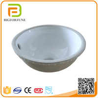Low Price Small Size Hand Round Shaped Wash Basin for Shower Room
