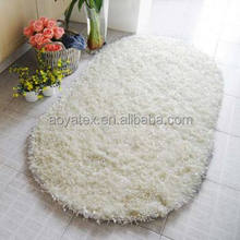 South Korea Silk Long Hair white polyester super soft shaggy carpet malaysia