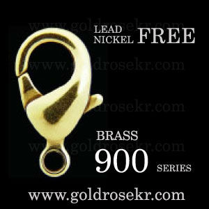 Brass lobster clasp 900 series