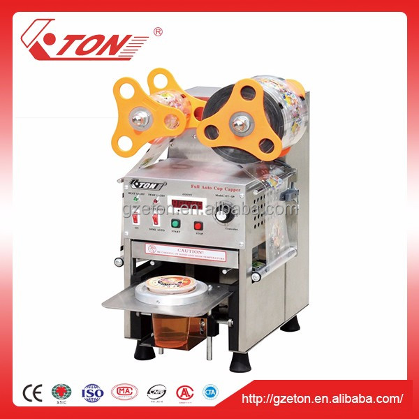 CE Approval Fully-Auto S.S Bubble Tea Cup Sealing Machine