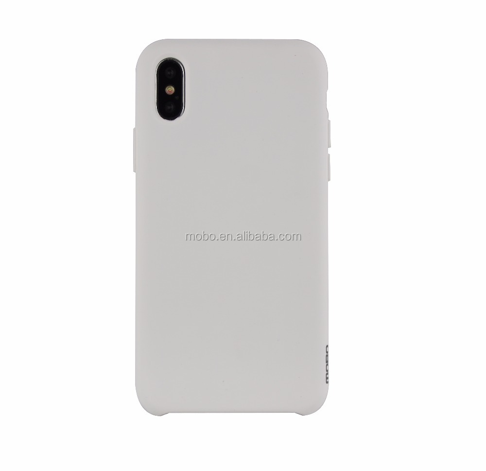 Slim and soft liquid silicon mobile phone case for iPhone X case