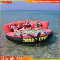 Crazy Ufo Inflatable water Towable boat water tube Sport game for sale
