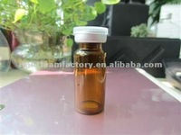 10ml brown injection vials, penicillin glass bottle with Butadiene acrylonitrile rubber and aluminium cap