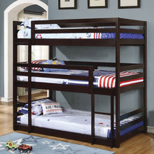 new design 3 levels tier adult military wooden triple bunk bed