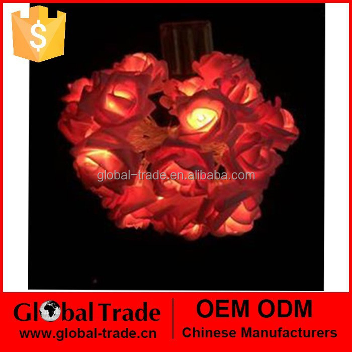 20 LED Sloar Rose Light Chain G0069