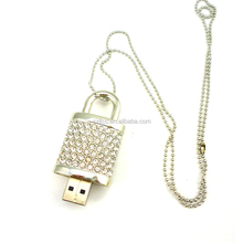 USB Key Lock, Jewelry Lock Shape USB Flash Drive, 2GB USB Pen