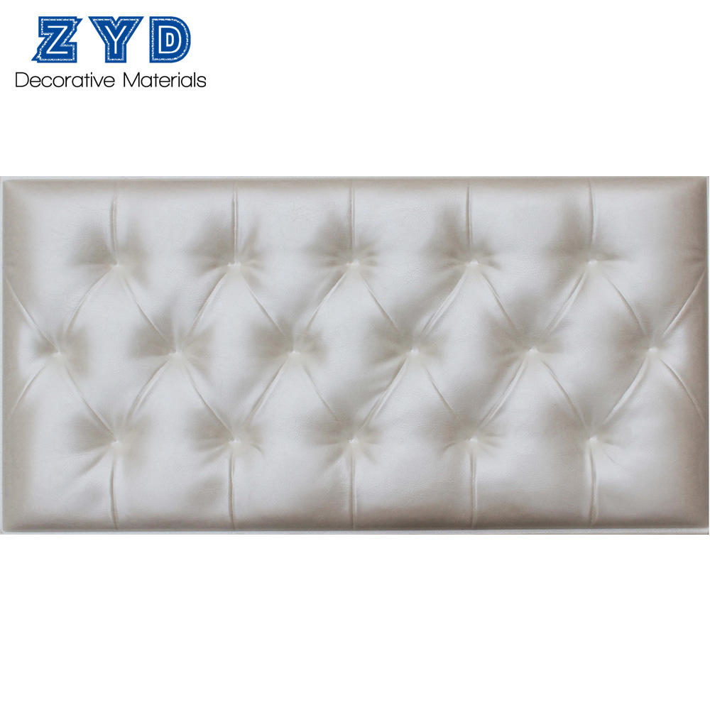 3d decoration leather padding mirror panels walls coverings designs