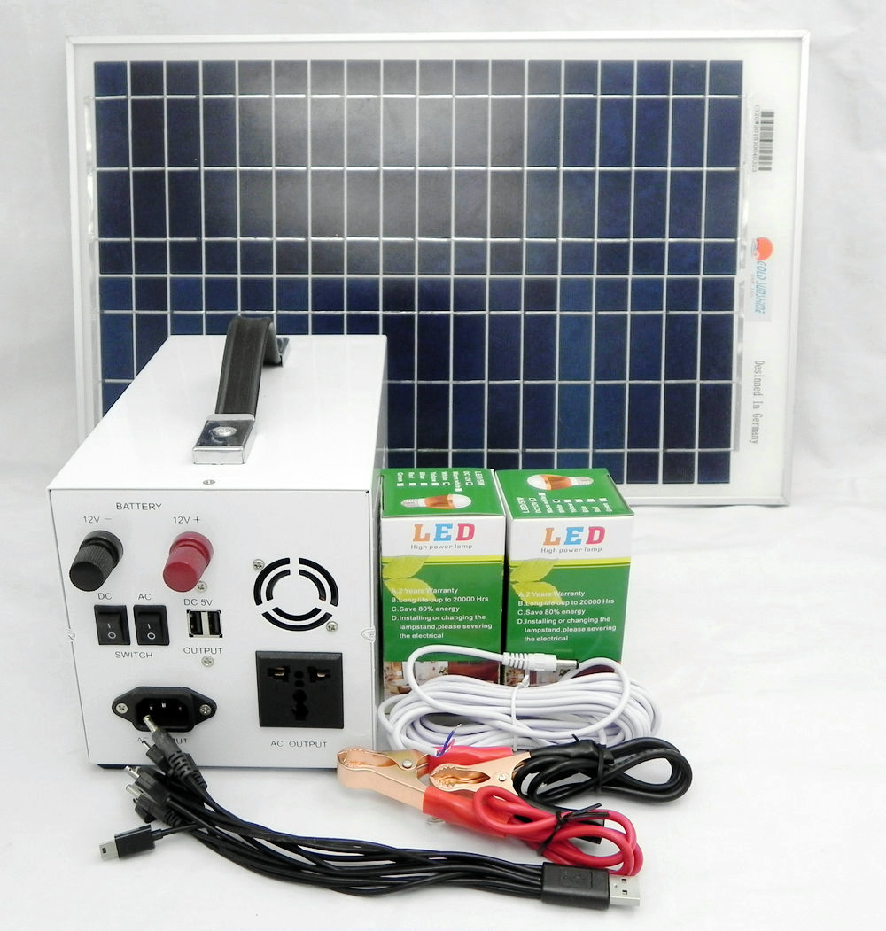 Promotion 300w home solar power system including solar controller and inverter to supply power