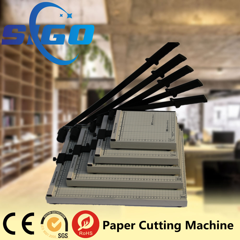 SG-829-X manual a4 guillotine Wooden or Metal Manual Paper trimmer