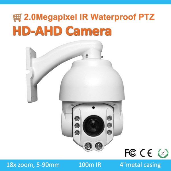 Economical 2.0Megapixel 1080P IR Waterproof 18X Speed Dome ahd ptz high speed camera