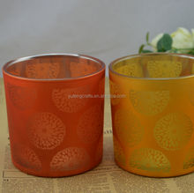 popular orange color rotating candle holder