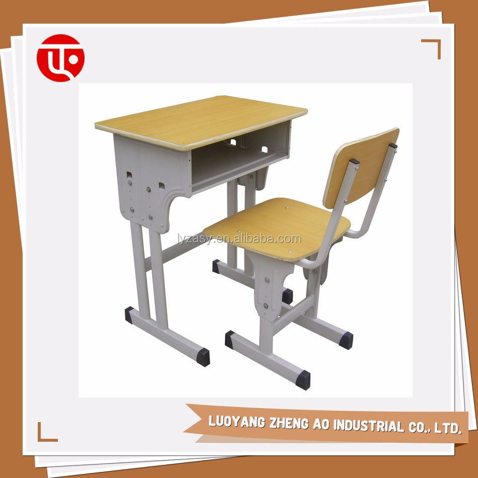 Popular sale used student chairs furniture single school desk and chair