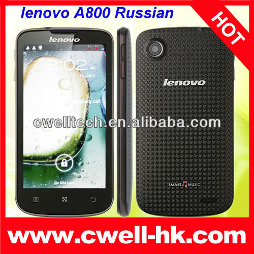 Lenovo A800 MTK6577 Dual Core 4.5 inch IPS Touch Screen Dual SIM Card Android Smart Phone