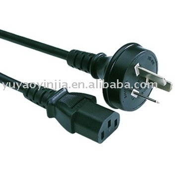 Australia / New Zealand Power cord 3 pin plug to IEC Female connector (AS/NZ standard SAA approval)