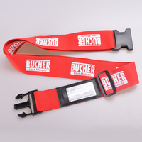 High Quality Adjustable Luggage Strap,Suitcase Polyester Luggage Belt With Name Tags