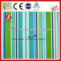 hotsale functional narrow turquoise stripes fabric