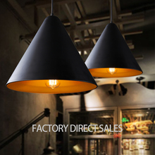 Loft light American industrial aluminum vintage pendant light for Bar Cafe Clothing store