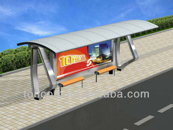 THC-3 metal bus stop shelter model