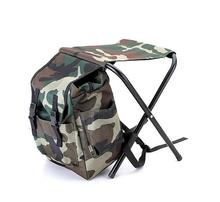 2017 Outdoor cooler bag folding chair bag, insulated camouflage backpack fishing stool,picnic cooler bag chair camping