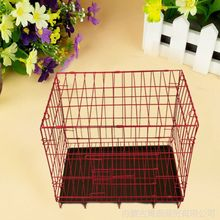 professional manufacture pet crate two doors pet folding pvc coated dog cage