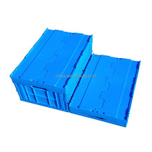 Food industry use plastic folding box with lid hard plastic tool case