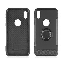 For iPhone X Case,Hard Back Plastic PC+TPU 360 Rotatable Ring Phone Case for iPhone 10 X