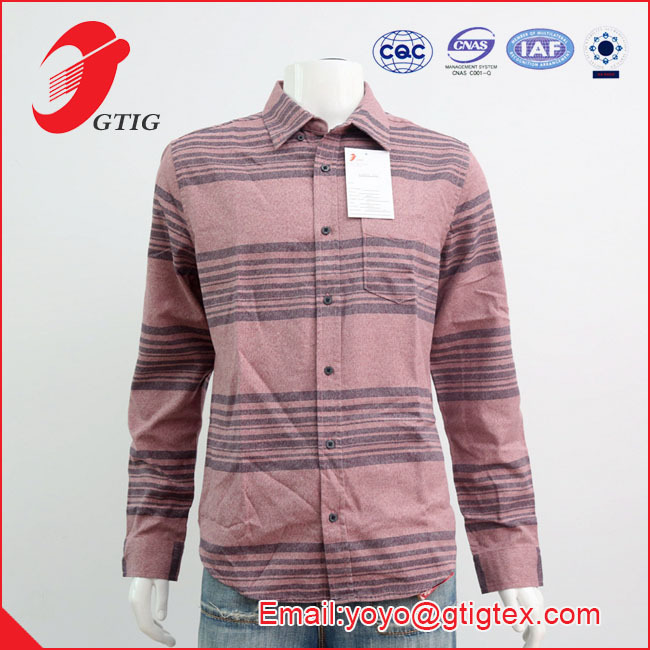 100% COTTON MEN LONG SLEEVE WOVEN CAUSUAL SHIRTS, TWIESTED YARN