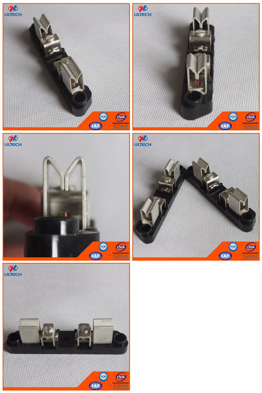 100A Aluminum Round Meter Socket Inner Parts With Copper Jaws