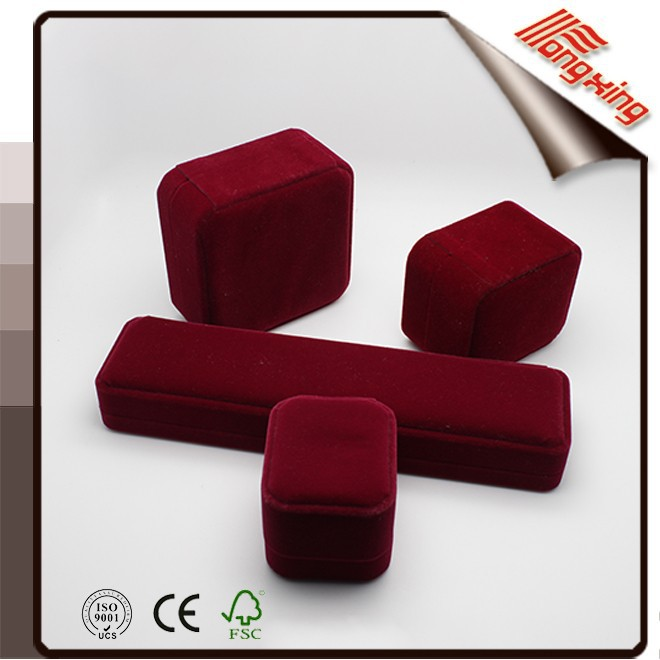 High quality handmade velvet jewelry box