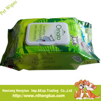 cheap and refreshing wet tissue for hand and face cleaning for pets