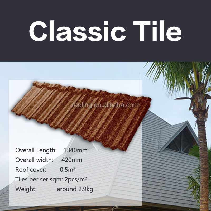 Roof Tile- Exported to USA sand coated metal/Corrugated steel roofing sheet